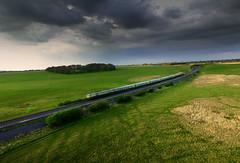 (2c..) Tags: ireland summer sky dublin irish train cork rail railway co express p3 2c kildare drone curragh dji 2cireland 2cimage