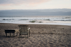 If I Were a Ship (Rebecca Haranczak) Tags: ocean california sunset beach nature clouds relax 50mm sand backyard waves sony horizon voigtlander bayarea serene norcal stinson sonya7r