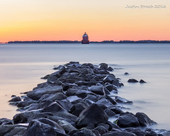 Sandy Point Light House 3 (strjustin) Tags: longexposure lighthouse beach beautiful sunrise canon landscape maryland 1855mm sandypoint 60d canon60d