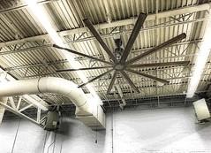 Big Ass Fans  Walmart store  Poster Edges (SteveMather) Tags: fan industrial ceiling walmart clean orton trusses topaz iphone 6s bigassfans hvls redynamix wickerbill