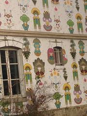 visages du mur (alexandrarougeron) Tags: paris color art facade canal photo dessin alexandra resto ambiance