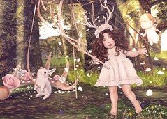 May Day Dance (Nostalgiadream) Tags: life dog baby fashion analog lune de blog kid toddler child turducken mandala sl fantasy secondlife shelby second faire simply anc ltd clair epiphany gacha mishmish vco kibitz halfdeer anypose roawenwood toddleedoo nostalgiadream