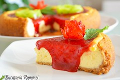 Zilelele trecute v-am artat cteva imagini cu acest delicios i aromat desert. Azi, ns, v prezint i reeta care v va ajuta s obinei un desert clasic iubit n ntreaga lume: New York Cheesecake. Pentru reet dai click pe acest: http://bucatariar (bucatariaramonei.com) Tags: usa newyork philadelphia desert mint cheesecake eggs menta americanfood strowberry fructe oua prajitura capsuni