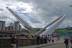 Bridge 'open' (Halliwell_Michael ## More off than on this week #) Tags: bridge sport spring bridges northumberland milleniumbridge springtime newcastleupontyne rivertyne thesage nikond40x magicweekend