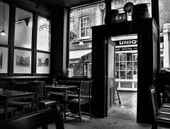 Look Through Any Window (standhisround) Tags: windows blackandwhite bw london monochrome mono pub memories shops inside hampstead publichouse theflask hww