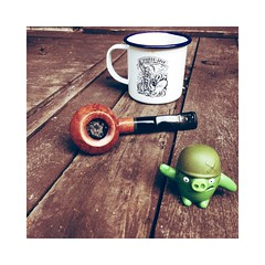 Coffee. Pipe. Pig. (smokeydan1) Tags: coffee pipesmoker pipesmoking pipetobacco angrybirds tobaccopipe moonshinepipes