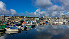 Sutton Harbour fishing boats (Rich Walker75) Tags: uk blue england sky cloud water clouds landscape boats boat harbour yacht plymouth devon yachts westcountry