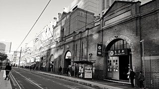 Paddys Markets in monochrome