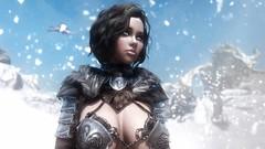 Throat of the World (Tipbudtipo) Tags: woman snow dragon warrior enb skyrim