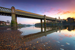 more than just water under the bridge (hotonpictures) Tags: bridge sunset london kew railway riverthames chiswich