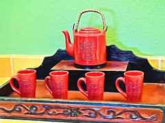 Red Tea Set (Jo-Cooler Than Usual Summer...Yay!!!!!) Tags: ceramic four restaurant pretty pot cups designs annapurna teasets onthecounter theflickrlounge