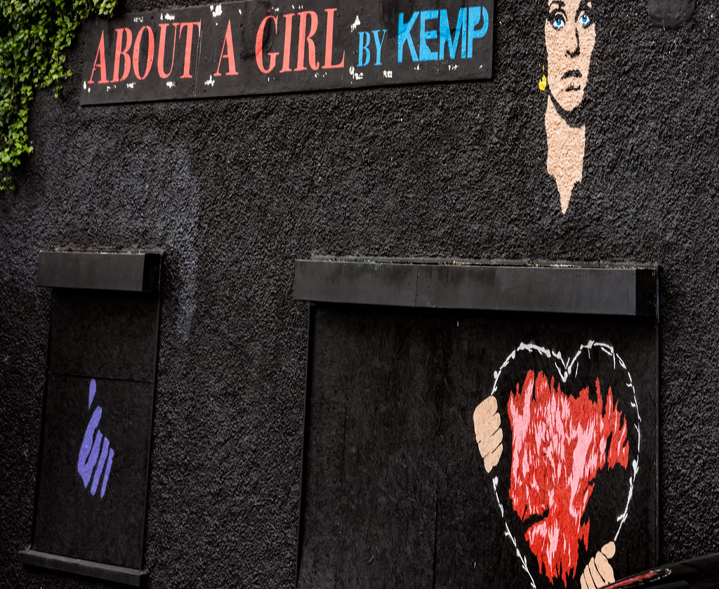 ABOUT A GIRL BY KEMP [WATERFORD WALLS PROJECT AT NEWGATE STREET]-116362