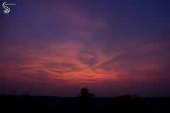 Sky Painting (Shikher Singh) Tags: sky silhouette clouds twilight sundown dusk eveningsky settingsun shikhersimagery shikhersimagery