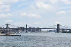 Picture Taken From The Staten Island Ferry Showing The The Brooklyn Bridge. Photo Taken Monday June 27, 2016 (ses7) Tags: bridge ferry island staten viewbrooklyn