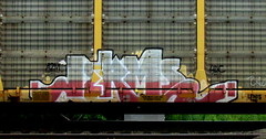 jerms (timetomakethepasta) Tags: jerms a2m 4dc lewis freight train graffiti autorack