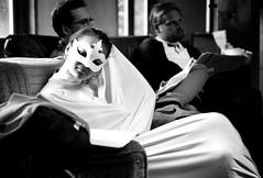 - dreaming phantom - (-wendenlook-) Tags: street bw girl monochrome theater mask streetphotography olympus sw omd maske 4518 em5ii lomizil