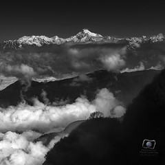 Kanchenjungha (chirasree) Tags: travel sky mountain monochrome clouds blackwhite cumulus himalaya cloudscape sikkim travelogue mountainscape stormchasers kanchenjunga amazingskyscapes