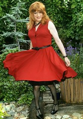 Floaty Dress (Amber :-)) Tags: dress burgundy crossdressing tgirl transvestite