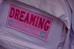 cheer leaders club (edwardpalmquist) Tags: street city travel pink urban japan tokyo heart backpack