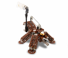 Steamikoma (Titolian) Tags: lego ghost engine shell future steampunk tachikoma greebles steamikoma