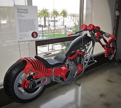 3D Printed Motorcycle (jurvetson) Tags: fab 3d san francisco gallery autodesk robots motorcycle hq abs printed makers fdm thermoplastics