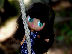 Blythe Girl Swinging on a Rope