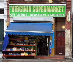 Virginia Supermarket, Virginia Road E2 (Emily Webber) Tags: london shops e2 shopfronts towerhamlets virginiaroad londnshopfronts