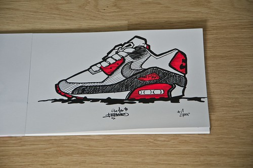 nike air max 90 drawing