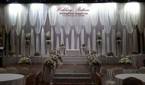 Pelamin Flamingo Wedding Station