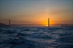 Over Easy Sunrise (LifeLover4) Tags: california morning sunrise canon boat fishing goldengatebridge boating ftpoint ggnra ggb 550d efs1755mmf28isusm t2i parkpic lifelover4 stickneydesign ggb75
