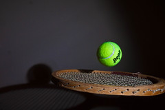234/365 [Explored 6.22.12 at #270] (Bradley Nash Burgess) Tags: camera light ball project lumix flash panasonic tennis 365 tennisball bounce racquet tennisracquet project365 gf2 365project panasoniclumixgf2