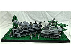 karl gert und Munitionsschlepper (BeLgIuM ww2 bUiLdeR) Tags: world 2 3 war gun tank lego ii german dio iv diorama tanks masterpiece panzer variant 54cm 540mm