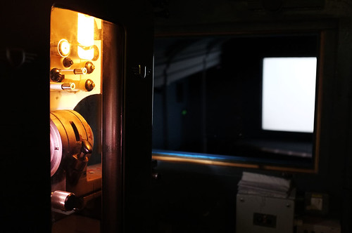 The Projection room at Filmhouse 1