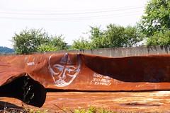 Rust and Graffiti (Mr.LeeCP) Tags: urban art abandoned graffiti rust desolate