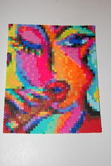 cigar girl perler bead art (lacy leather) Tags: cigargirl martinashapiro perlerbeadart