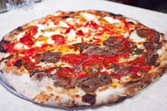John's of Bleecker Street - Meatball Pizza (nicknamemiket) Tags: nyc food ny newyork thedailyshow jonstewart restaurants pizza foodporn oldfashioned bleeckerstreet pizzapie foodphotography newyorkpizza  newyorkstylepizza johnsofbleeckerstreet nypizza   thedailyshowwithjonstewart restaurantphotography bleeckerstr iconicrestaurants johnsofbleeckerstreetbrickovenpizza johnsofbleeckerstreetpizzeria