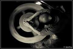 Life & Wheel (ujjal dey) Tags: blackandwhite monochrome potter dreams pottery vignette topview ujjal nikond90 hotar nikon18105mm ujjaldey ujjaldeyin lifeandwheel