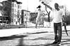"""Rafael And Friend"" (B.C. Lorio) Tags: dog newjersey jerseycity nj streetphotography finepix fujifilm theheights x100 pershingpark jerseycityheights xphotographer myfujifilm"