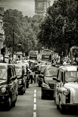 Cabbie Chaos (violinconcertono3) Tags: london landscapes flickr unitedkingdom fineart protest cityscapes cabs whitehall blackcab fineartphotography davidhenderson london2012 cabbies londonist fineartphotographer londonphotographer 19sixty3 19sixty3com olympicroadlanes
