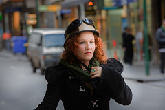 Faces on the Street (Jac Jon) Tags: street winter cold scarf candid coat helmet goggles melbourne redhead streetbeauty canoneos5dmarkiii