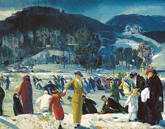 George Bellows - Love of Winter, 1914 at the Art Institute of Chicago IL (mbell1975) Tags: winter usa chi