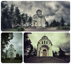 Vileyka: The Church Of St. Tikhon (lemmingby) Tags: postprocessed building church travels trips belarus russianorthodox vileyka diptic otherwheres snapseed