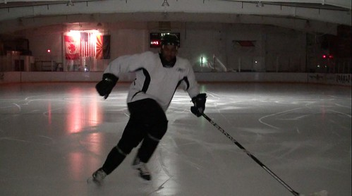 Brad Perry hockey showing a Backward crossover 1