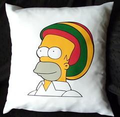 Almohadn homero rasta (Lady Krizia) Tags: tv simpsons cine pillow series reggae homero rasta vinilo animacion rastafari wilwarin estampado almohadon termoestampado
