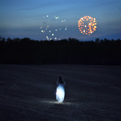 Lightning Bug (gurbir.grewal) Tags: blue lamp field evening day fireworks bokeh horizon hour independence firefly nightgown