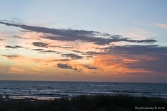 Just Before Sunrise (raisinsawdust - (aka: tennphoto)) Tags: morning red beach sunrise nikon colorful florida 2012 firstlight d90 nikond90