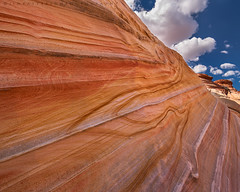 Wall at the Wave (Jim Patterson Photography) Tags: summer arizona sky nature clouds landscape sandstone desert wilderness thewave pariacanyon vermillioncliffs coyotebuttesnorth jimpattersonphotography jimpattersonphotographycom seatosummitworkshops seatosummitworkshopscom