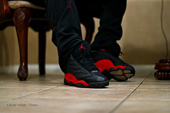 WDYWT2 (Never Wear Them) Tags: red black 2004 basketball cat michael shoes you air nike retro wear jordan what did 13 today panther bred xiii wdywt jordan13bred