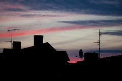 Signal And Noise (Rutger Blom) Tags: sky dark evening tv europe rooftops sweden silhouettes 100mm communication sverige antennas zweden canoneos5dmarkii ef100mmf28lmacroisusm
