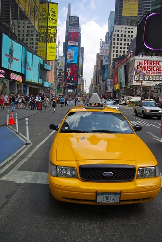 New york City - Yellow cab à Time Square
